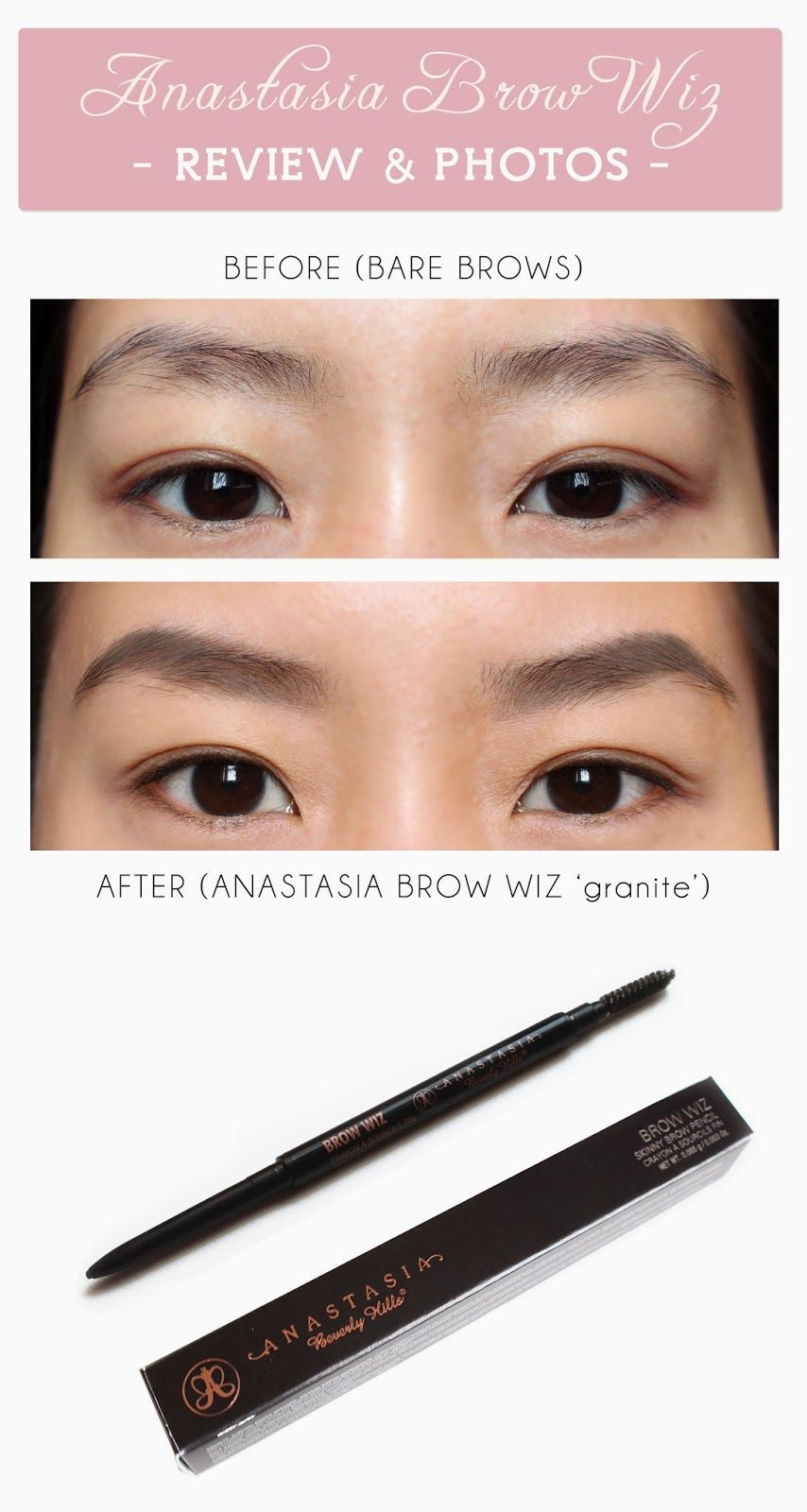 Anastasia Brow Wiz Review Photos Granite Is A Great Shade To