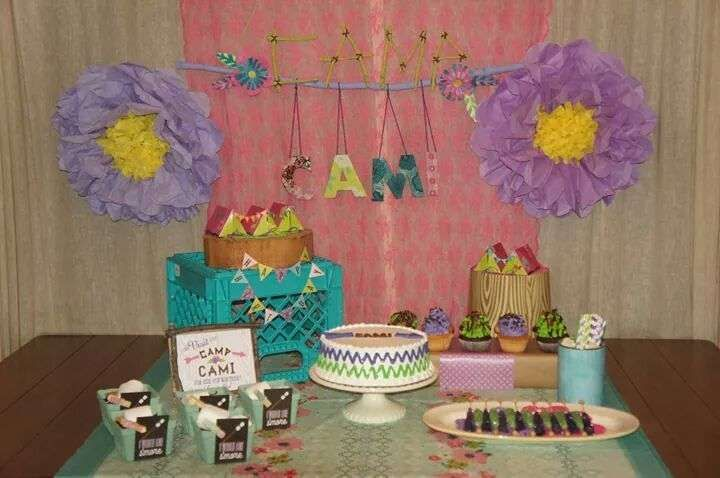 Camp Cami - Cambria's 9th Birthday Party | CatchMyParty.com