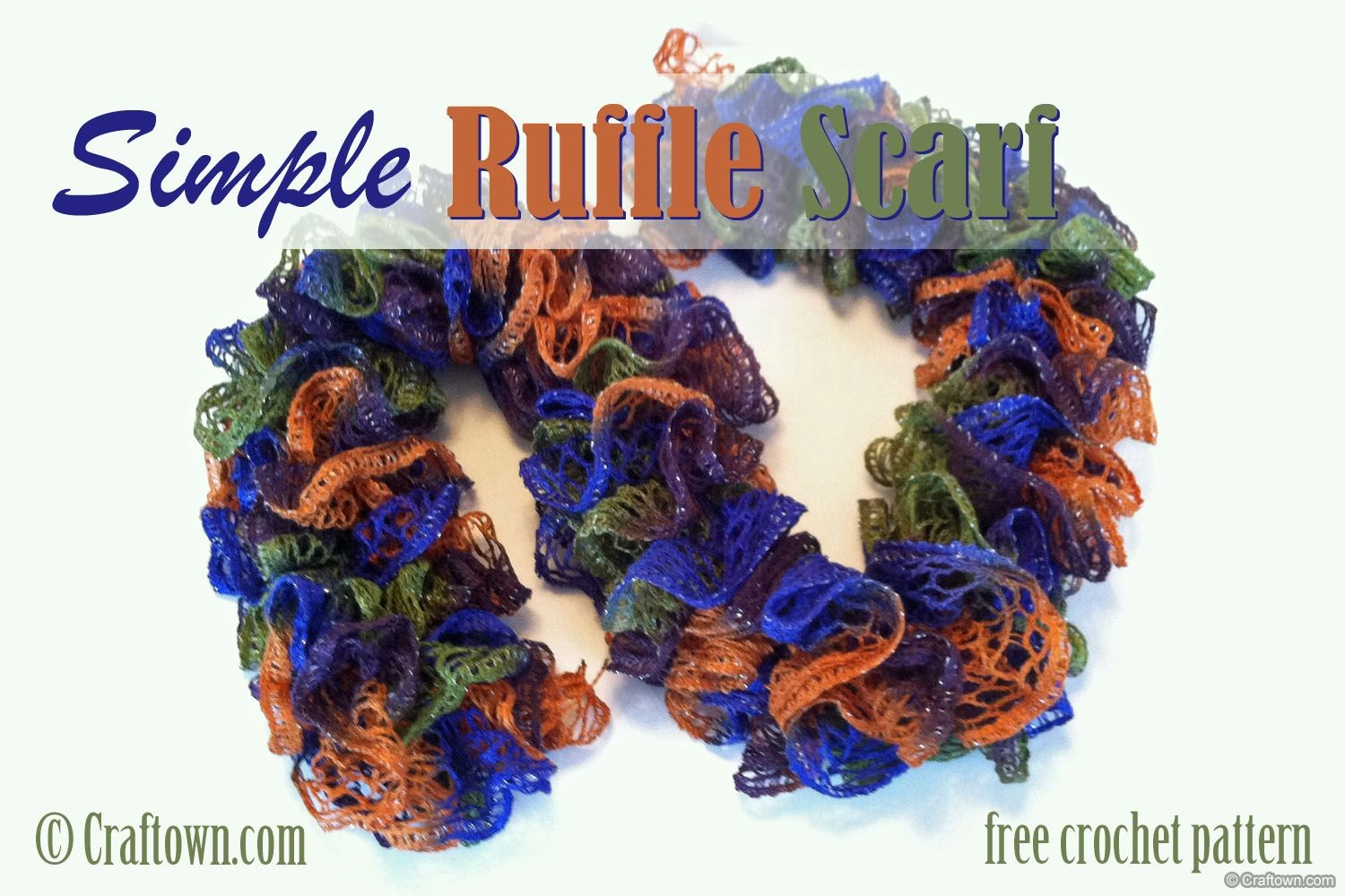 Free Crochet Pattern - Simple Ruffle Scarf (love this EASY pattern ...