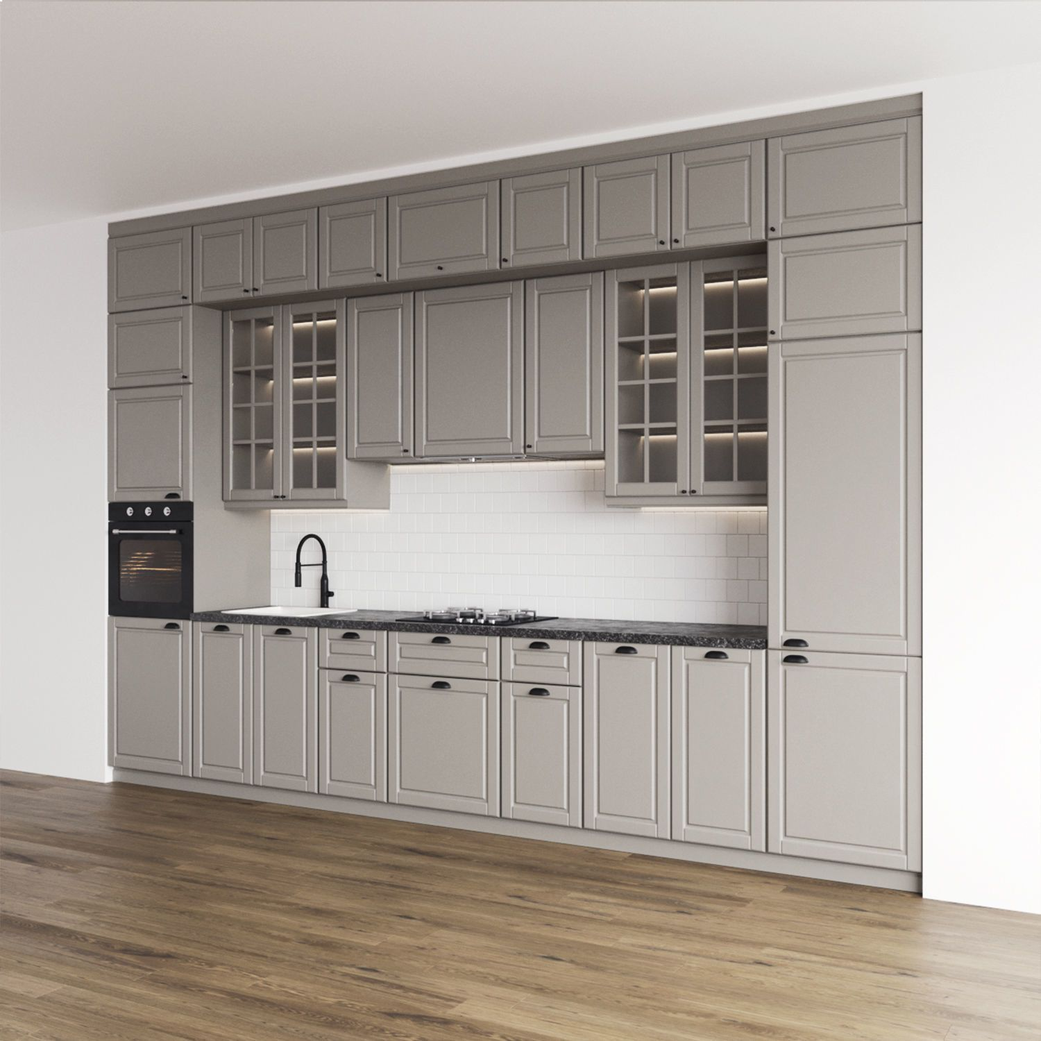 Modern Kitchenbodbyn 3d Model In 2020 Ikea Bodbyn Kitchen Bodbyn Kitchen Grey Ikea Kitchen Cabinets