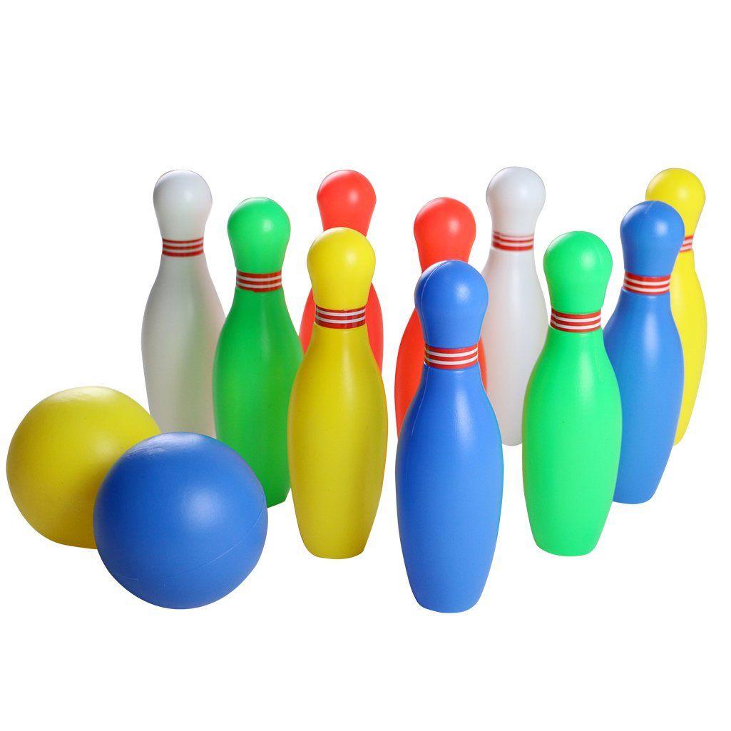 Bowling Ball Play Set Funny Plastics Bowling Games Kit Party Favorseducational Early Developmental Toys12 Pcsmini Bowlin Fun Bowling Bowling Games Bowling Ball
