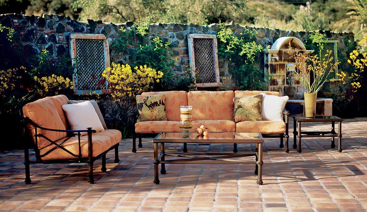 Outdoor Furniture - Campaign Grande Sofa, Loveseat, Coffee Table ...