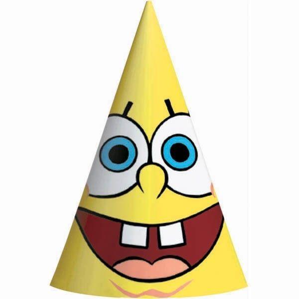 18873879771 8 x SpongeBob SquarePants Birthday Party Hats Decoration Supplies ...