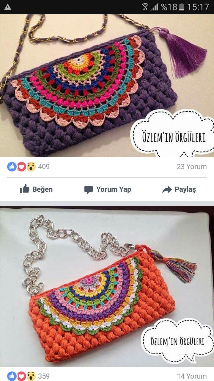 Crochet Handbag: tutoriel sur la construction - craftIdea.org