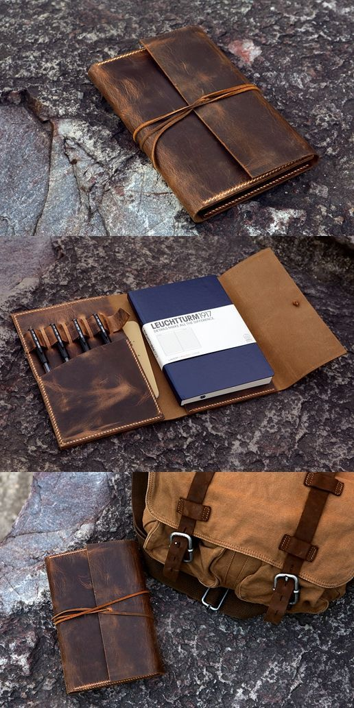 #Phonecases leather rustic leather cover case for A5 Bullet Journal Leuchtturm1917 Medium notebook #leatherwallets