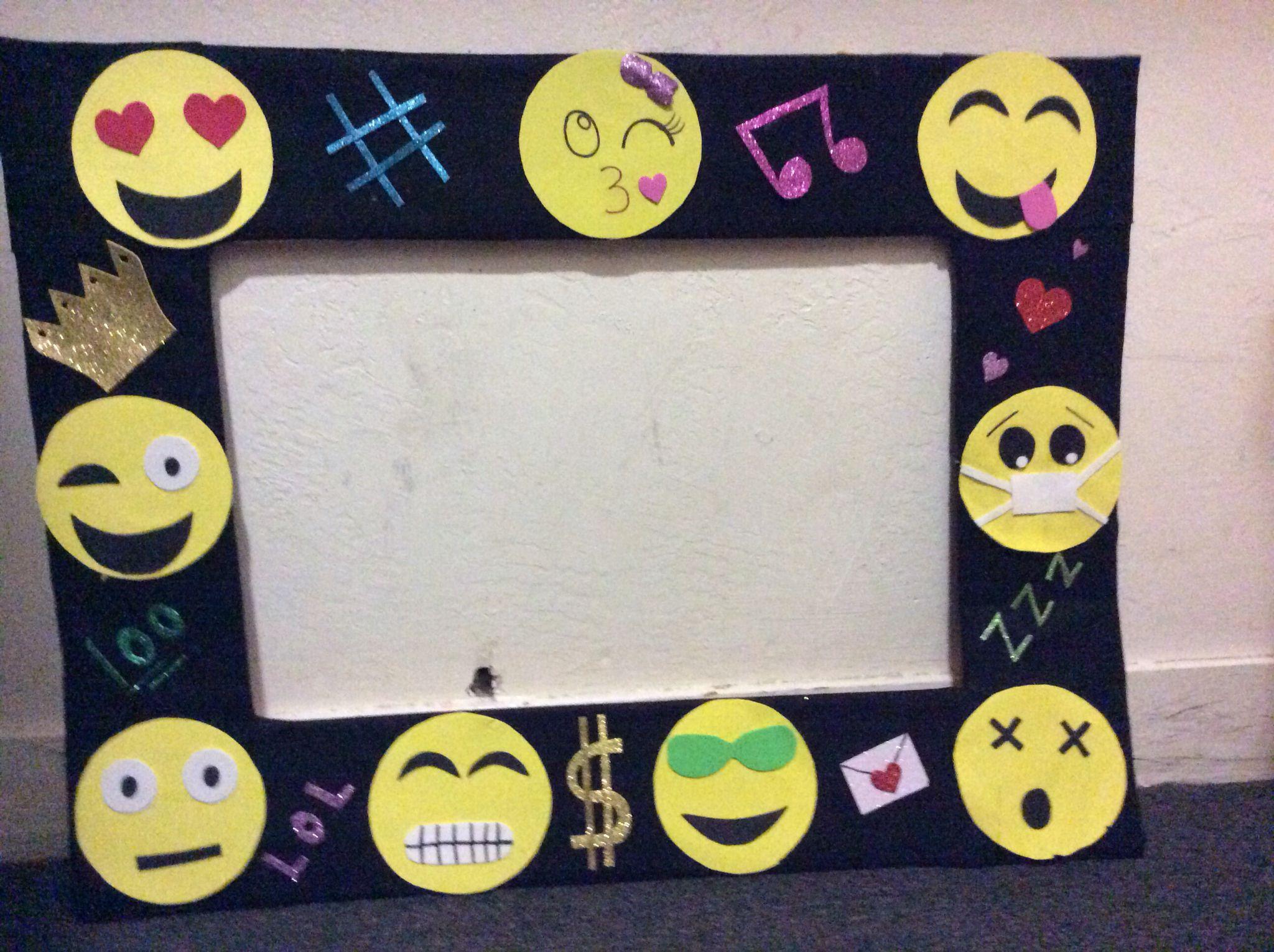 Emoji frame For emoji birthday partyDIY kami Pinterest