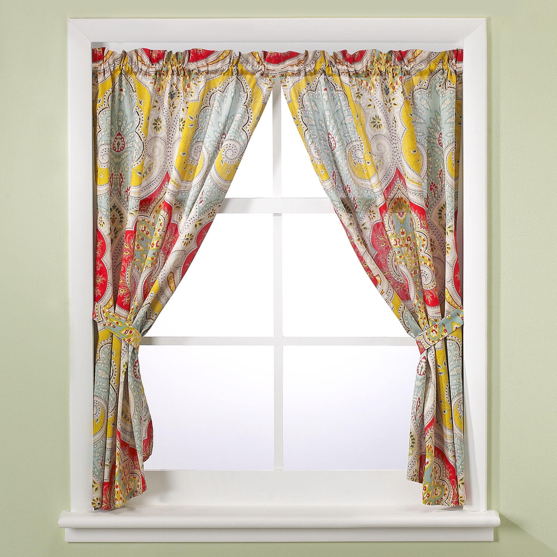 Echo Design™ Jaipur Bathroom Window Curtain Panel Pair