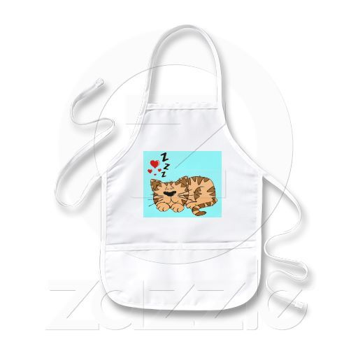 CUTE SLEEPING TIGER Kids Apron. Perfect for drawing, painting and all crafts activities. $17.95
