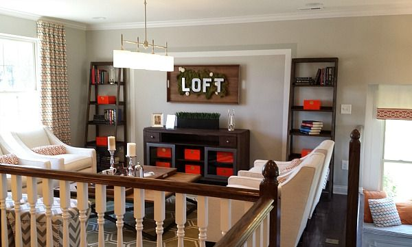 Loft Decorating Ideas 10 decorating ideas spotted in a model home | upstairs loft