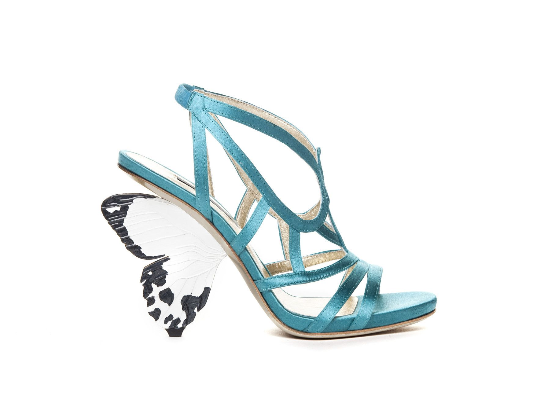 Butterfly High hill shoes Alberto Guardiani Italian