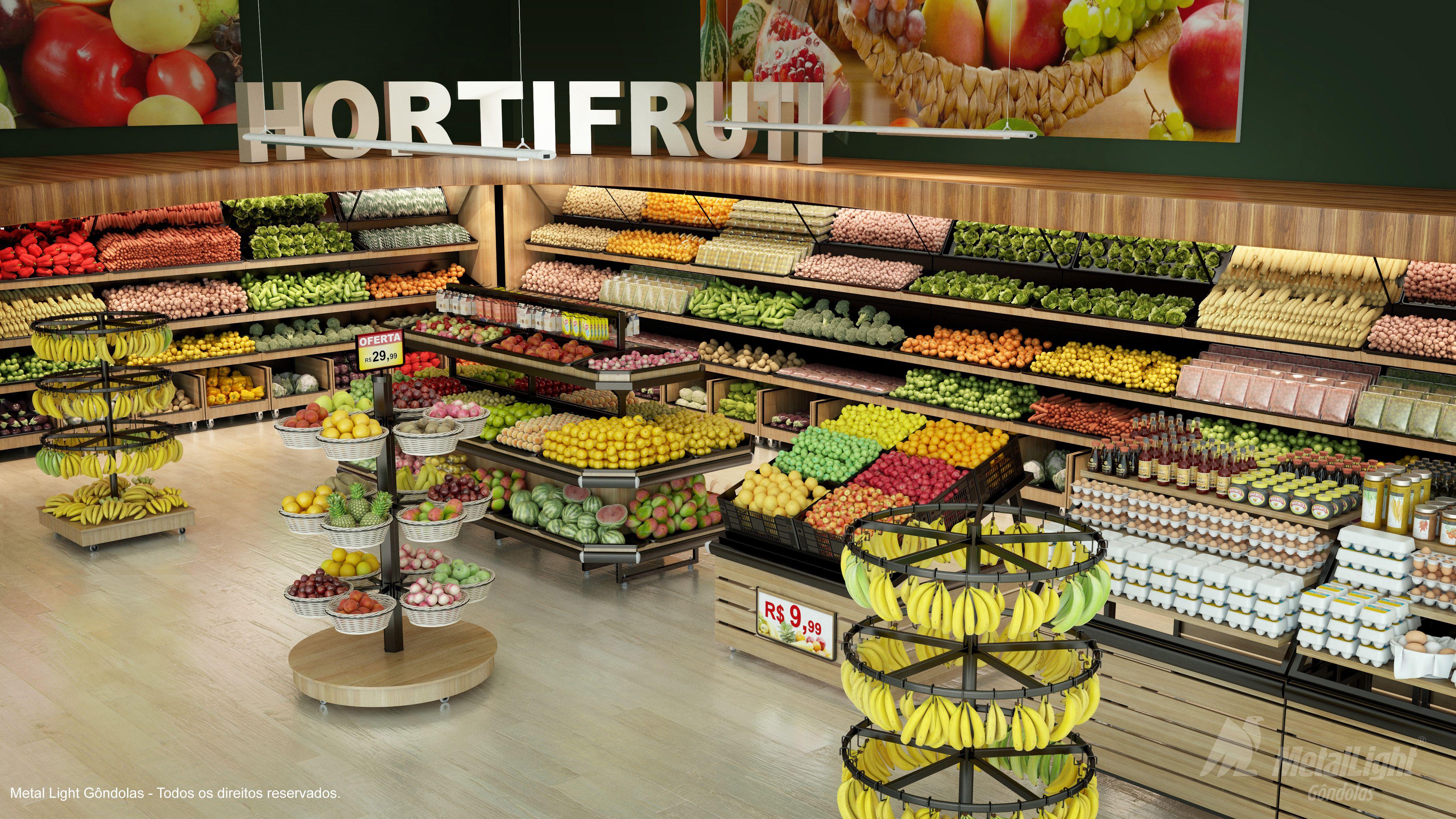 9d80d35a3 Gôndolas, Bancas e Vascas para supermercados e hipermercados / expositores  para hortifruti / frutas e verduras / expositores em aço e madeira.