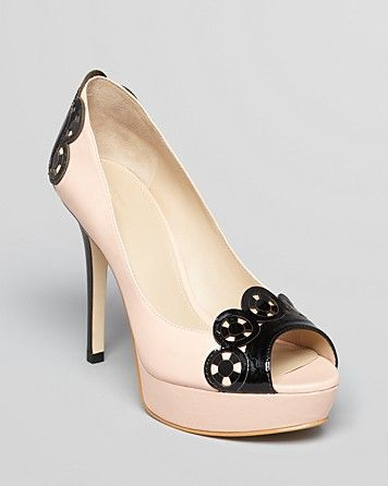 Joan & David Open Toe Platform Pumps - Carmindy | Bloomingdales <-- Now this is a shoe for a lady