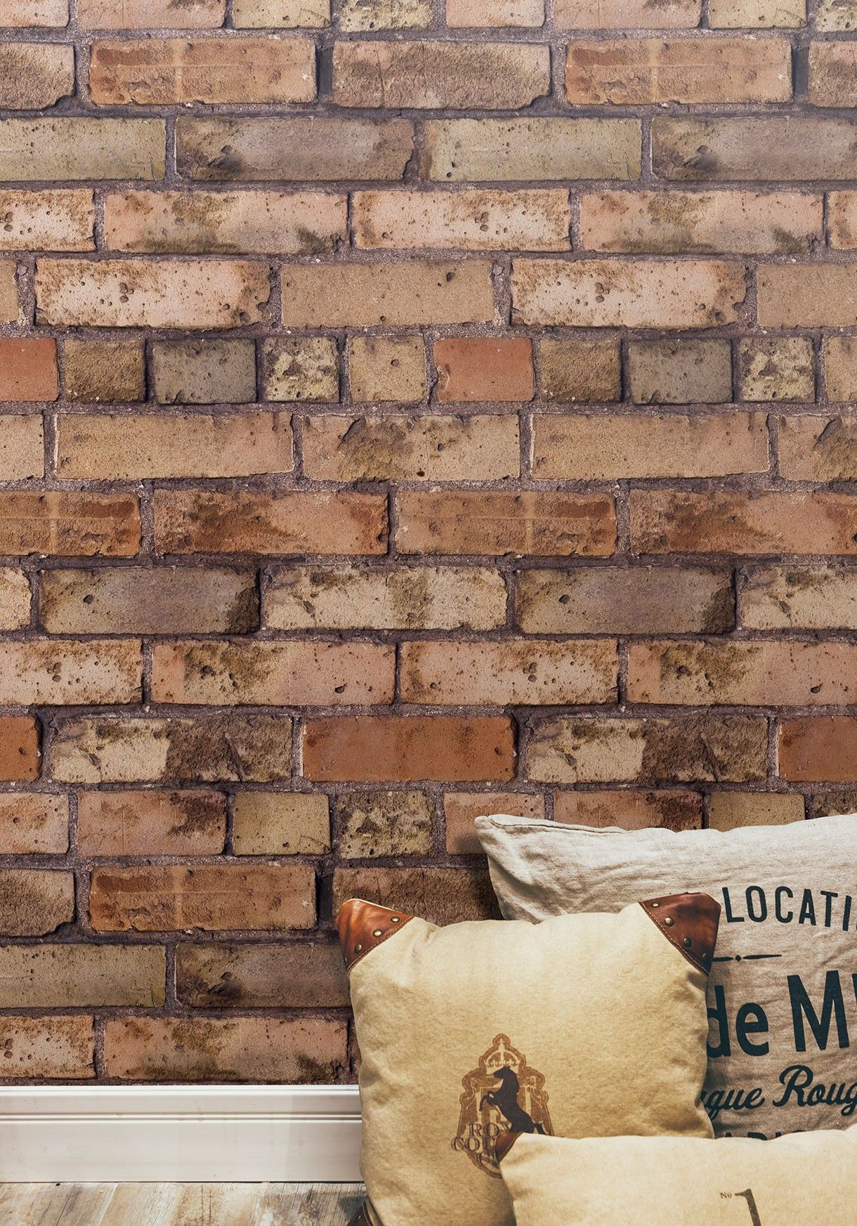 Old Brown Bricks Wallpaper from Kemra New house kids