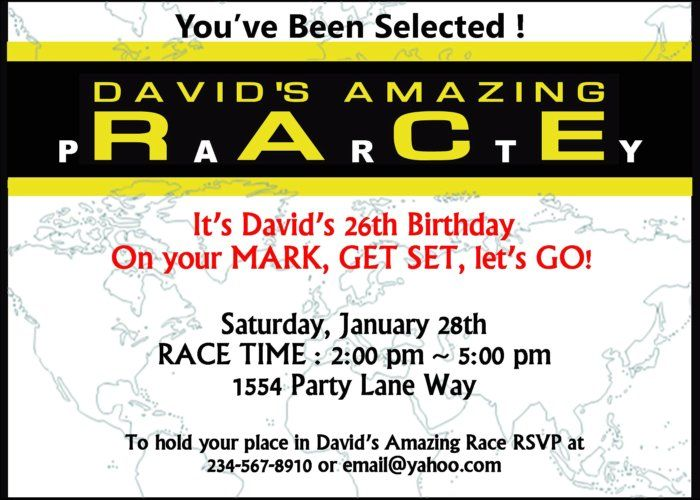 Amazing Race Party Supplies And Invitations Amazing Race Games