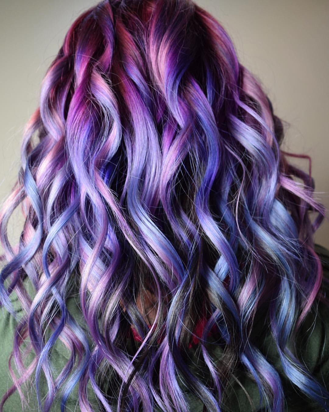 Pastel Purple Pink Blue And Black Hair Idea Inspiration How To Bright Fun Hair Color Guy Tang Mydentity Olaplex Inspiration Ide Ombre Hair Purple Hair Guy Tang