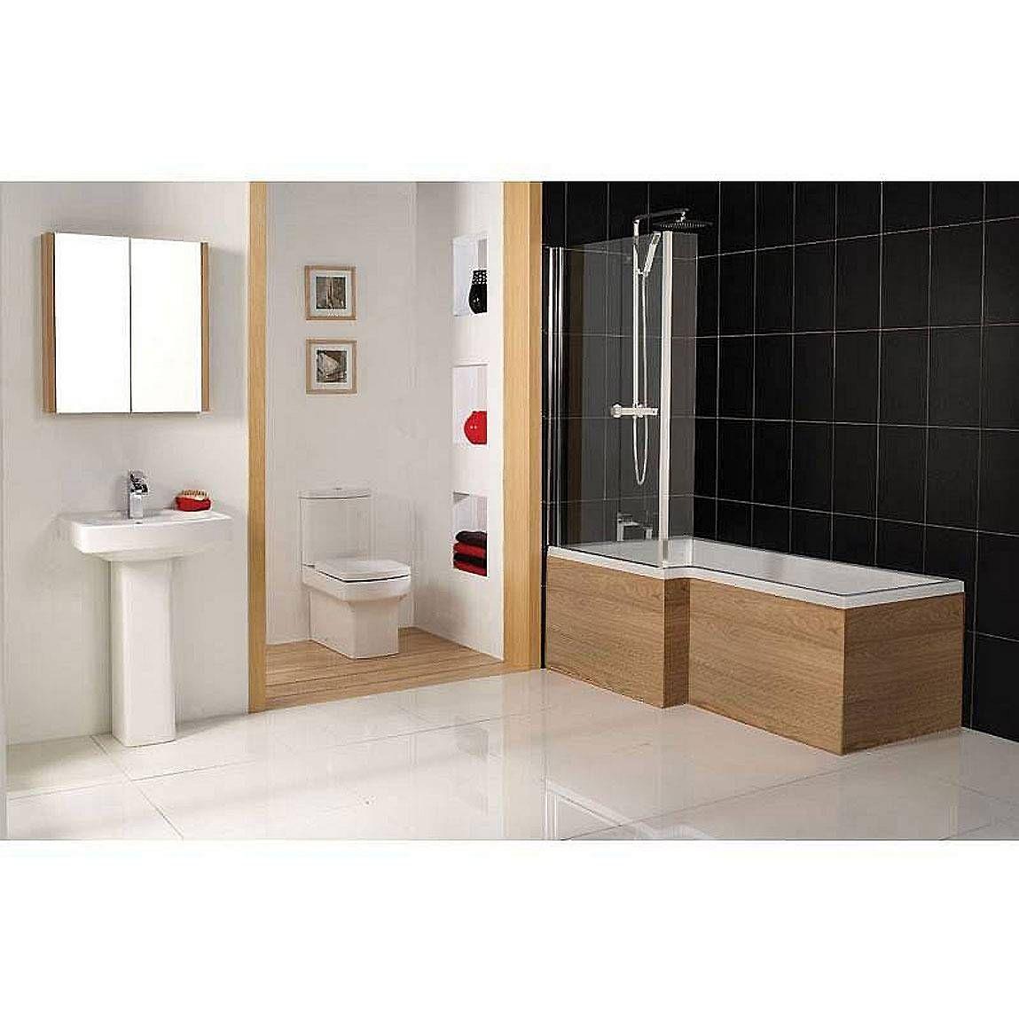 Cambridge Square Shower Bath Panel Oak - Victoria Plumb | Bathroom ...