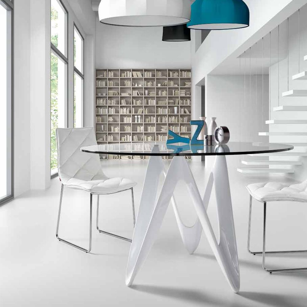 table ronde en verre design moderne lapo maison pinterest design moderne table ronde et. Black Bedroom Furniture Sets. Home Design Ideas