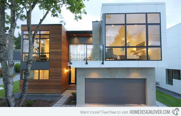 house with basement garage. 20 Contemporary Attached Garage Design House  45degreesdesign com