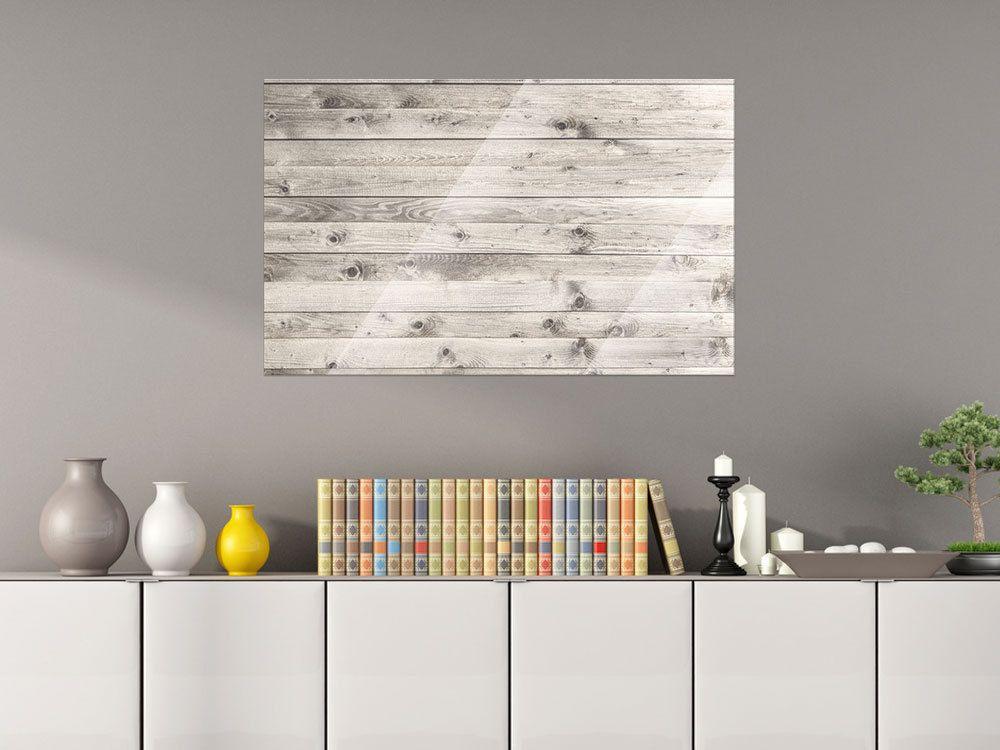 Glas Magnettafel Wandtafel Magnettafel für Wohnzimmer Holzplanken - magnettafel für die küche