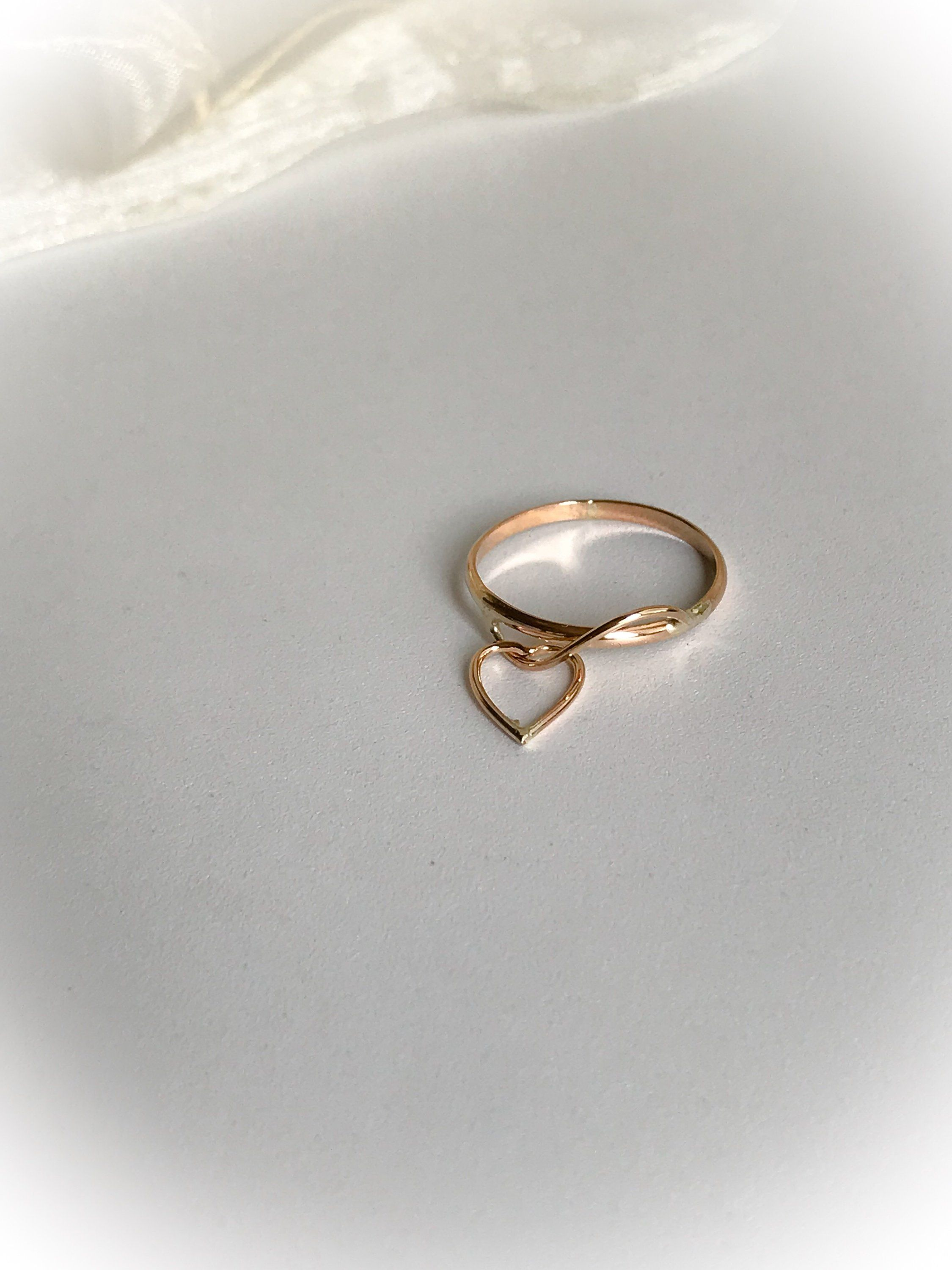 Unique 12 Karat Gold Filled Wire Ring With Heart Charm Dangle High Polish Finish Plain 1 5mm Wide Band Ring Measures Rings For Her Gold Wire Ring Charm Rings