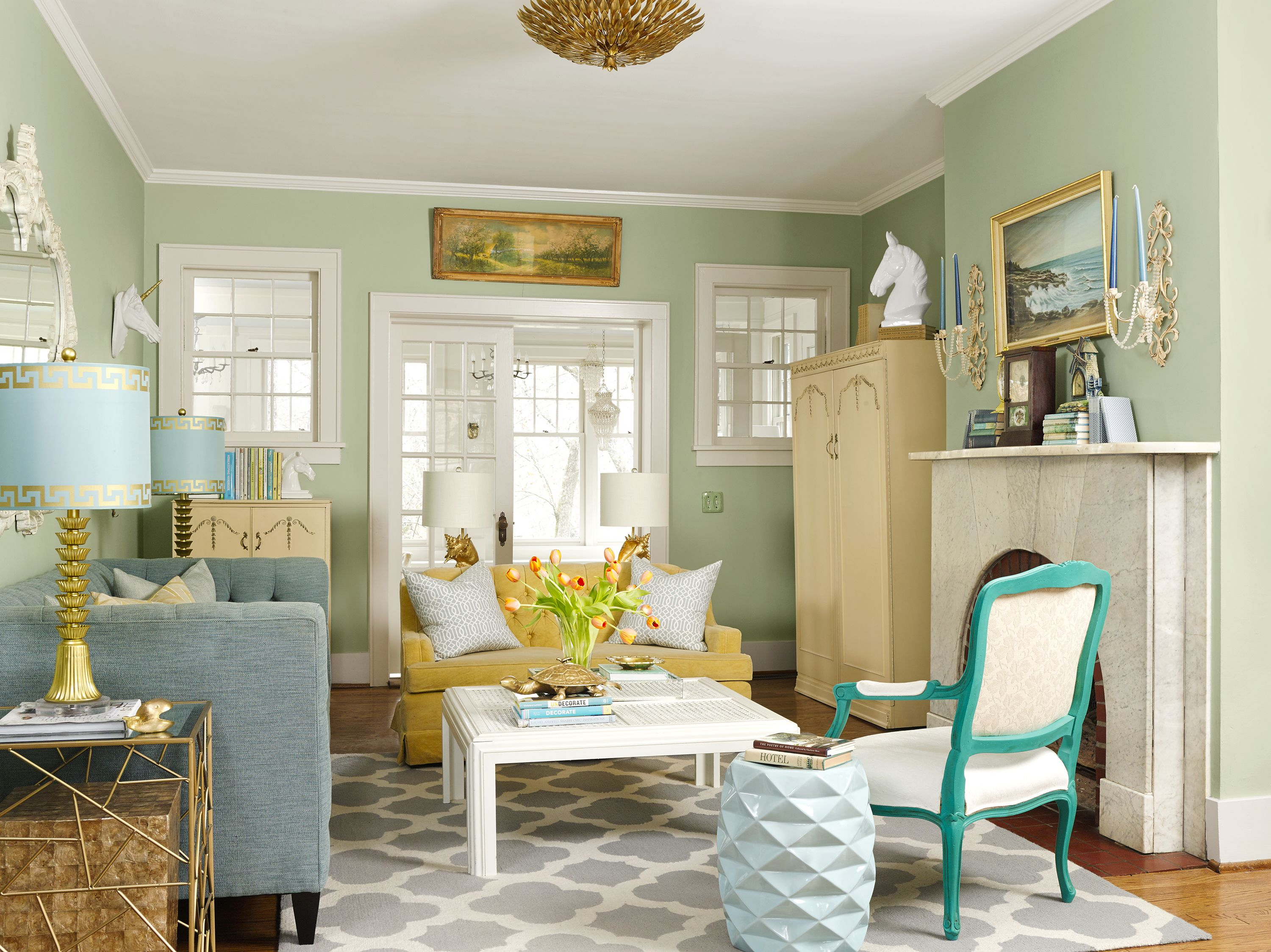 True Colors For An Interior Designer S 1930s House 1930s House 1930s House Interior 1930s Living Room