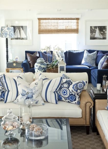 Traditional Living Room Barclay Butera Living On The Coast Blue