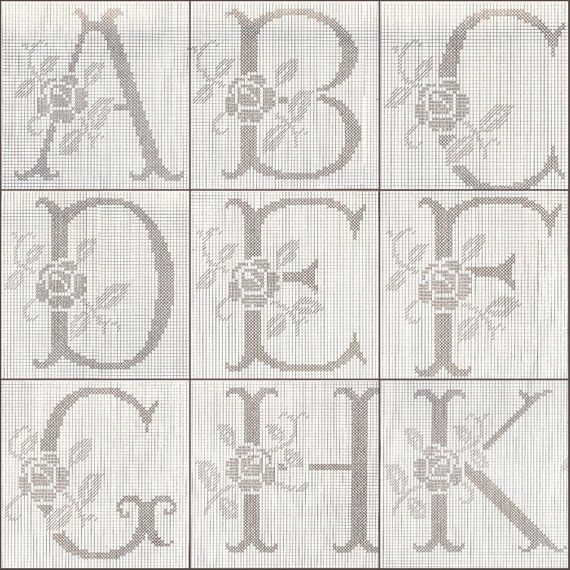 alphabet crochet pattern