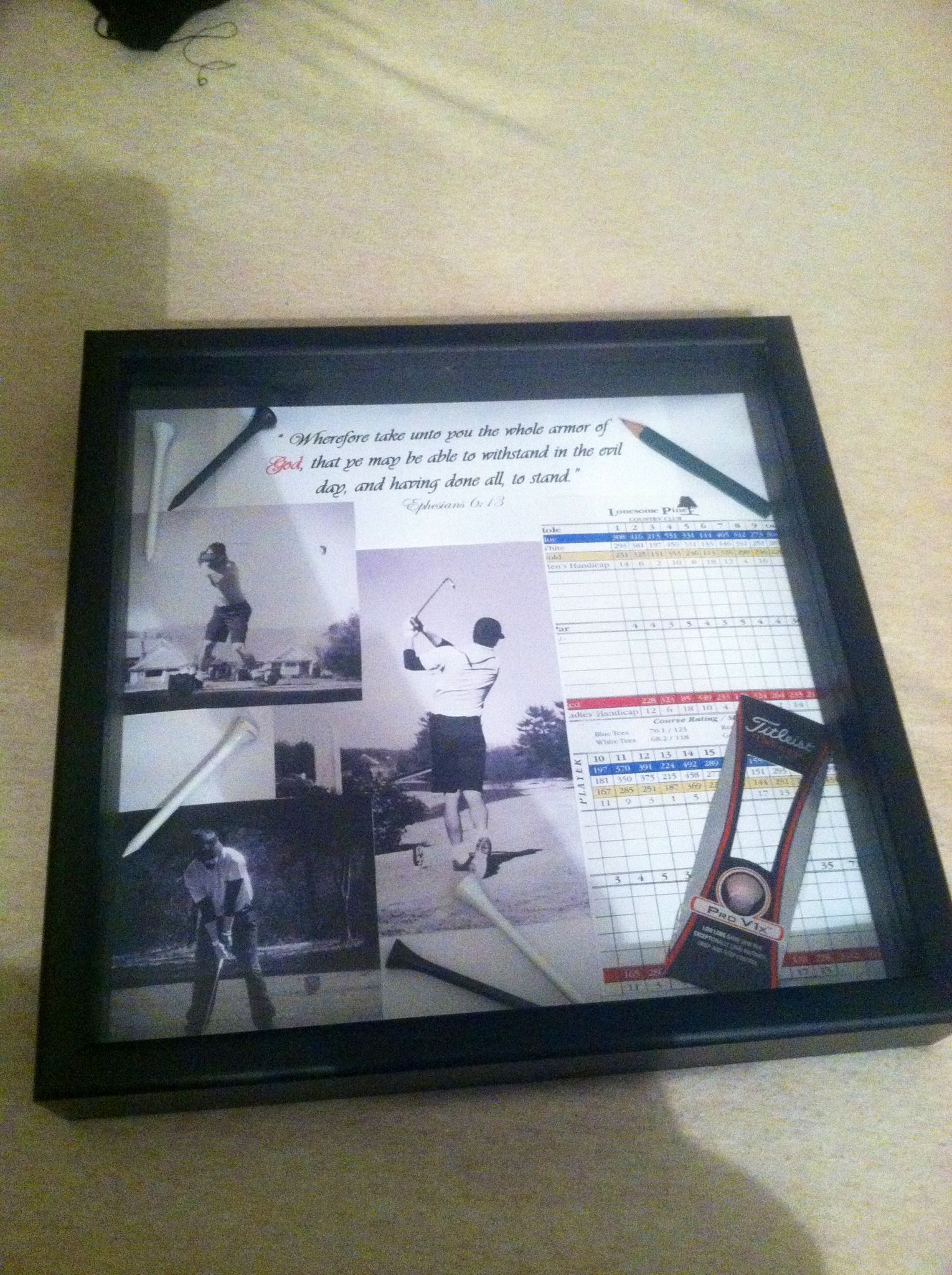Golf shadow box frame for my boyfriend :) #sweetestdaygiftsforboyfriend Golf shadow box frame for my boyfriend :) #sweetestdaygiftsforboyfriend