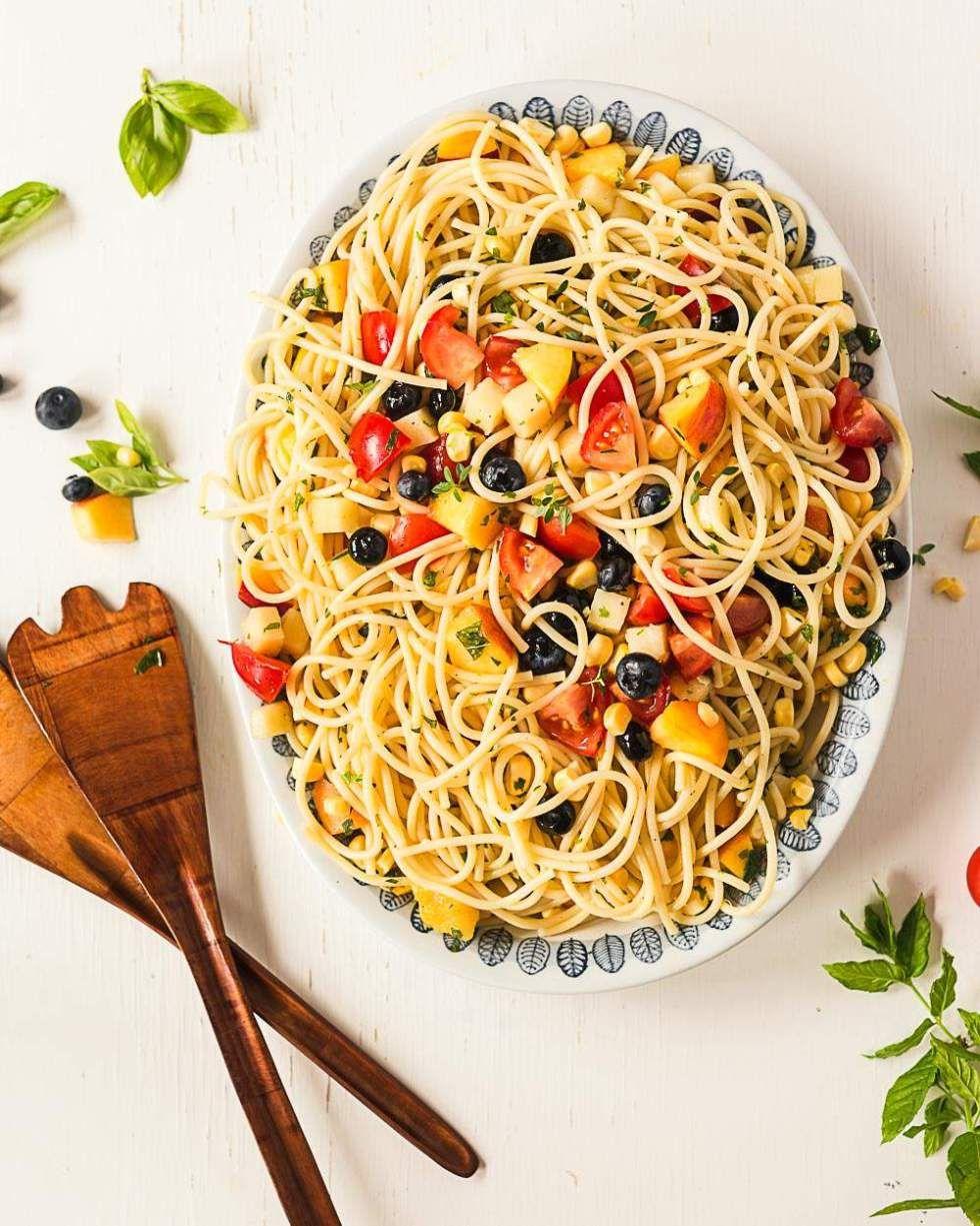 Endofsummer pasta salad (vegan) Recipe Summer pasta