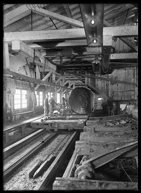 Saw mill   Sawmills   Lumber mill, Logging equipment, Old ...