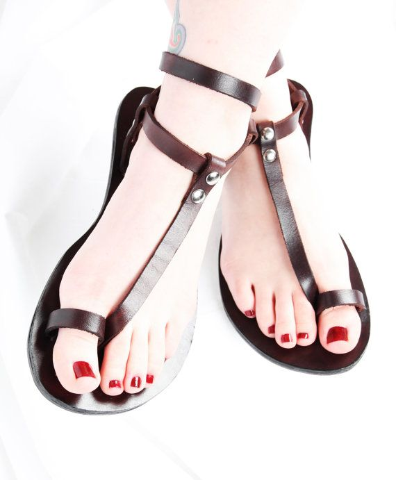 4139feb9304f7 Custom Handmade Leather Sandals strappy by DarkSideofNorway
