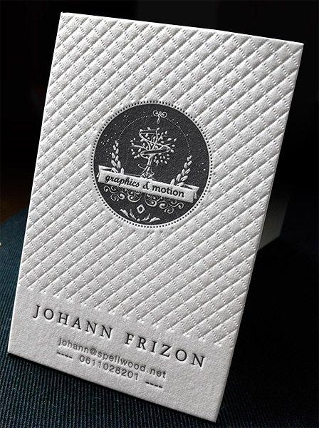 Unique Beautiful Letterpress Business Card – Spellwood ...