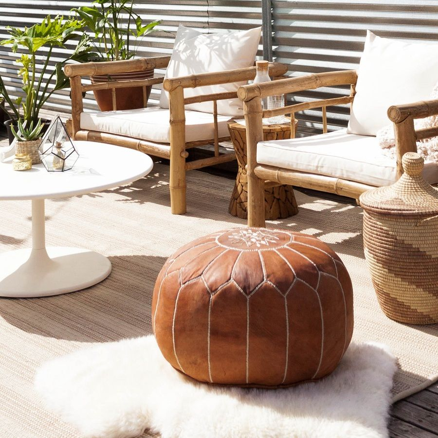 Placed Indoors Or Outdoors Poufs Function As Seating Ottoman