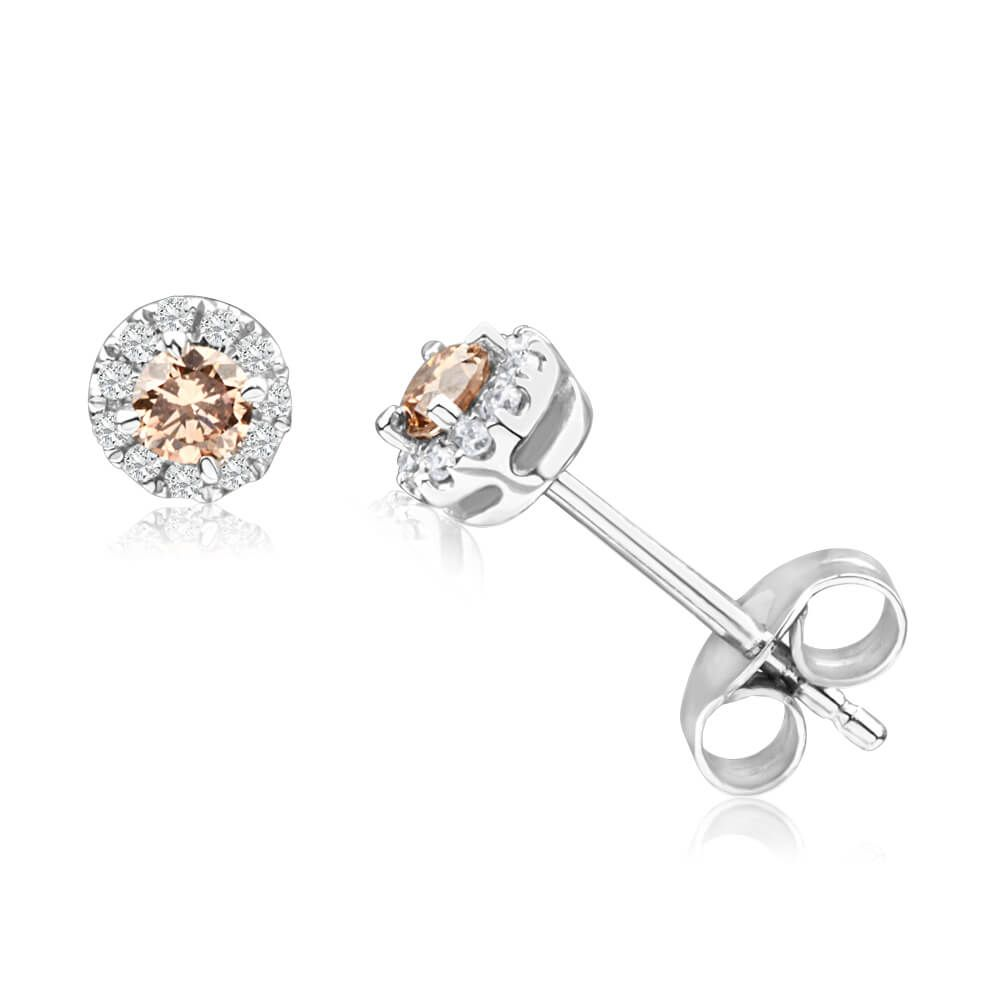 Connie Australian Diamond Stud Earrings In 9ct Gold Tw 25pt Image A