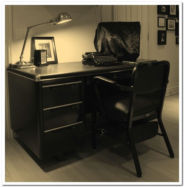 retro office. Retro Peacock ∗ How To Restore A Tanker Desk For Your 1950s Office