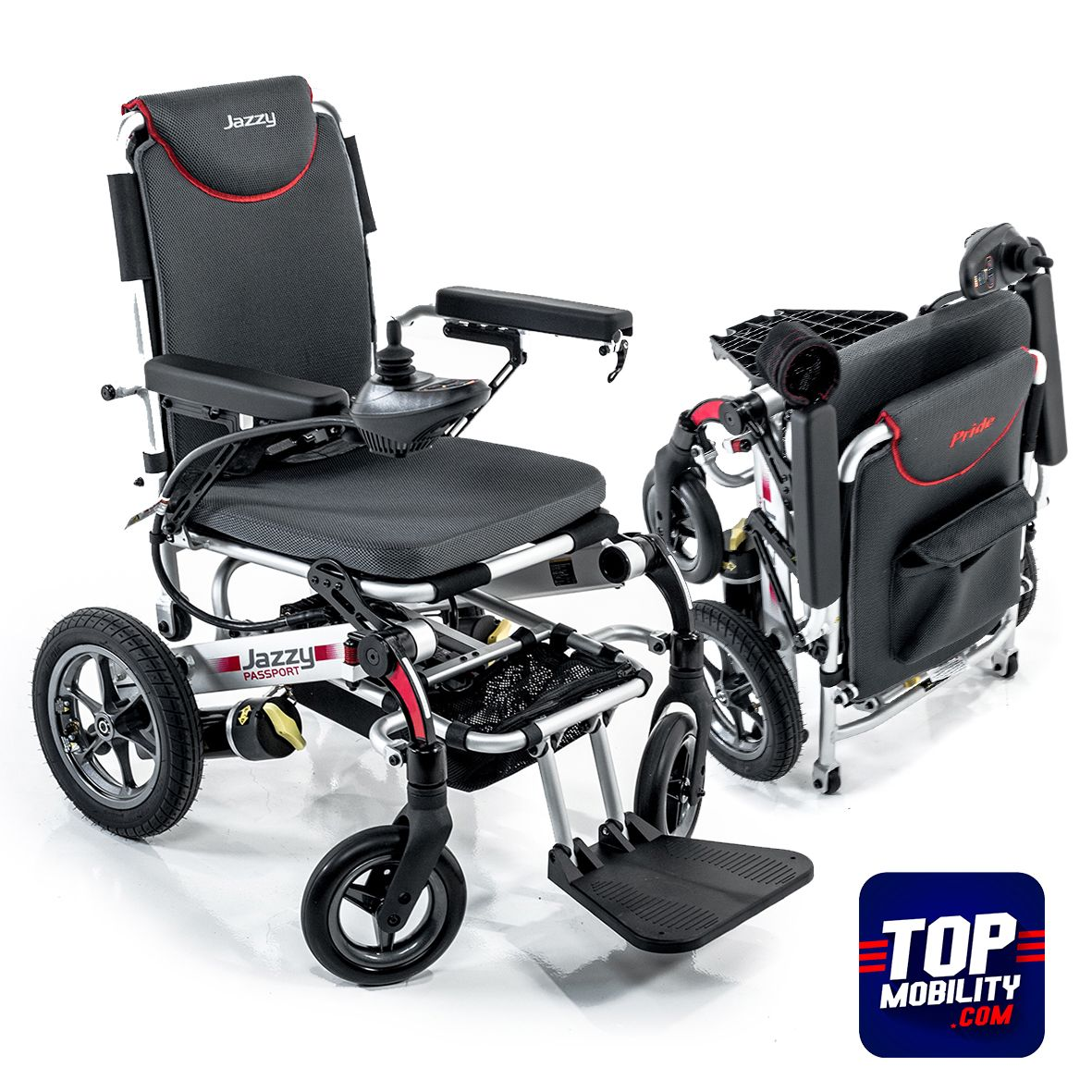 This ultra portable power wheelchair folds in seconds