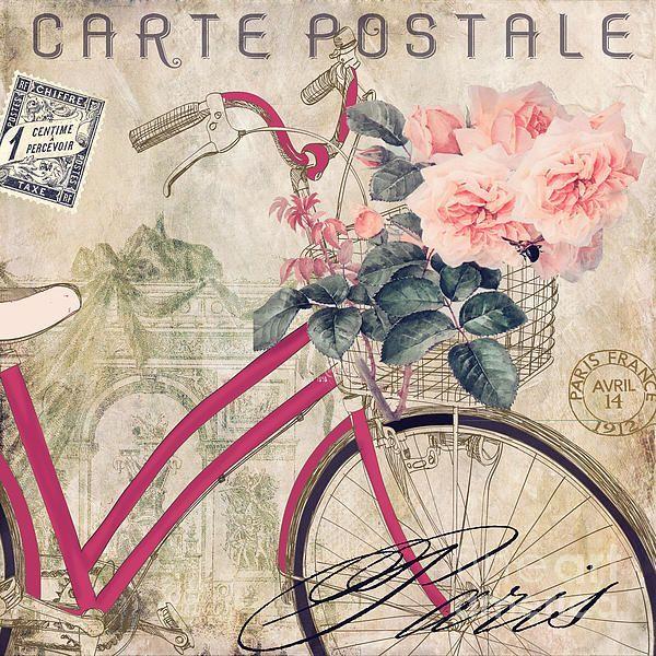 fleurs Fahrad velo paris 5 serviettes romance rose