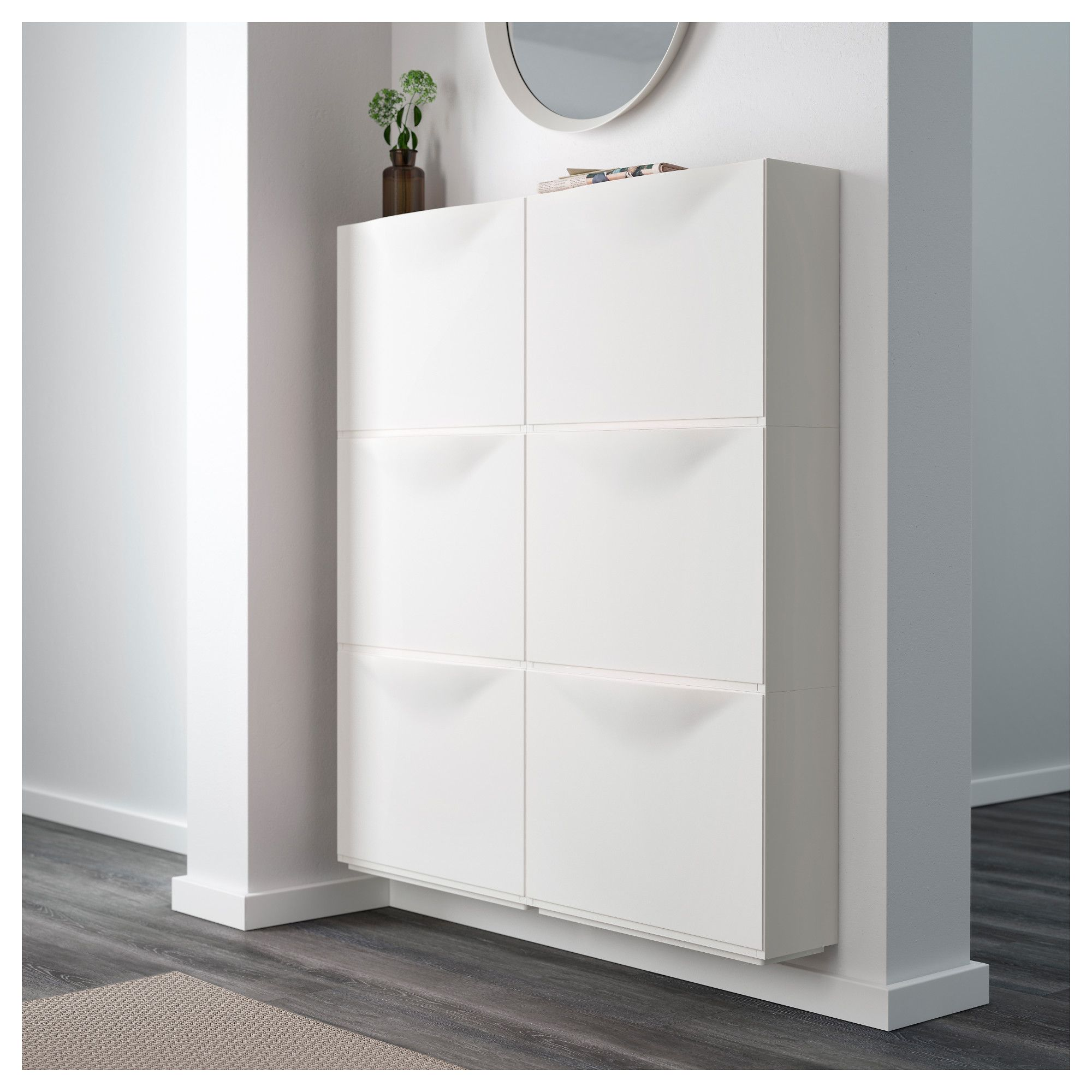 Trones Shoe Cabinetstorage White 51X39 Cm  Ikea