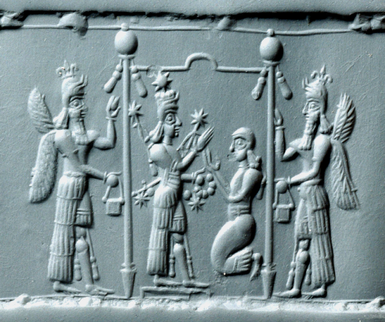 Neo-Assyrian Pink Chalcedony Cylinder Seal, 8th-7th ...