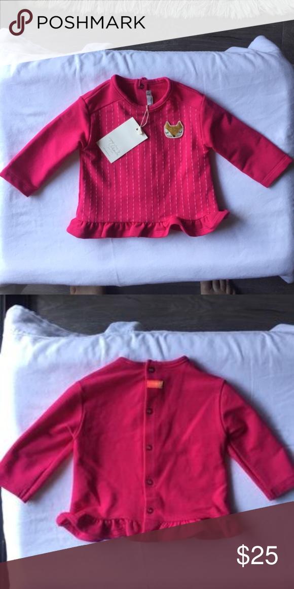 0c82ca9c7 Catimini Super Soft Long Sleeve Baby Girls Top NWT fuchsia pink long sleeve  shirt. Super