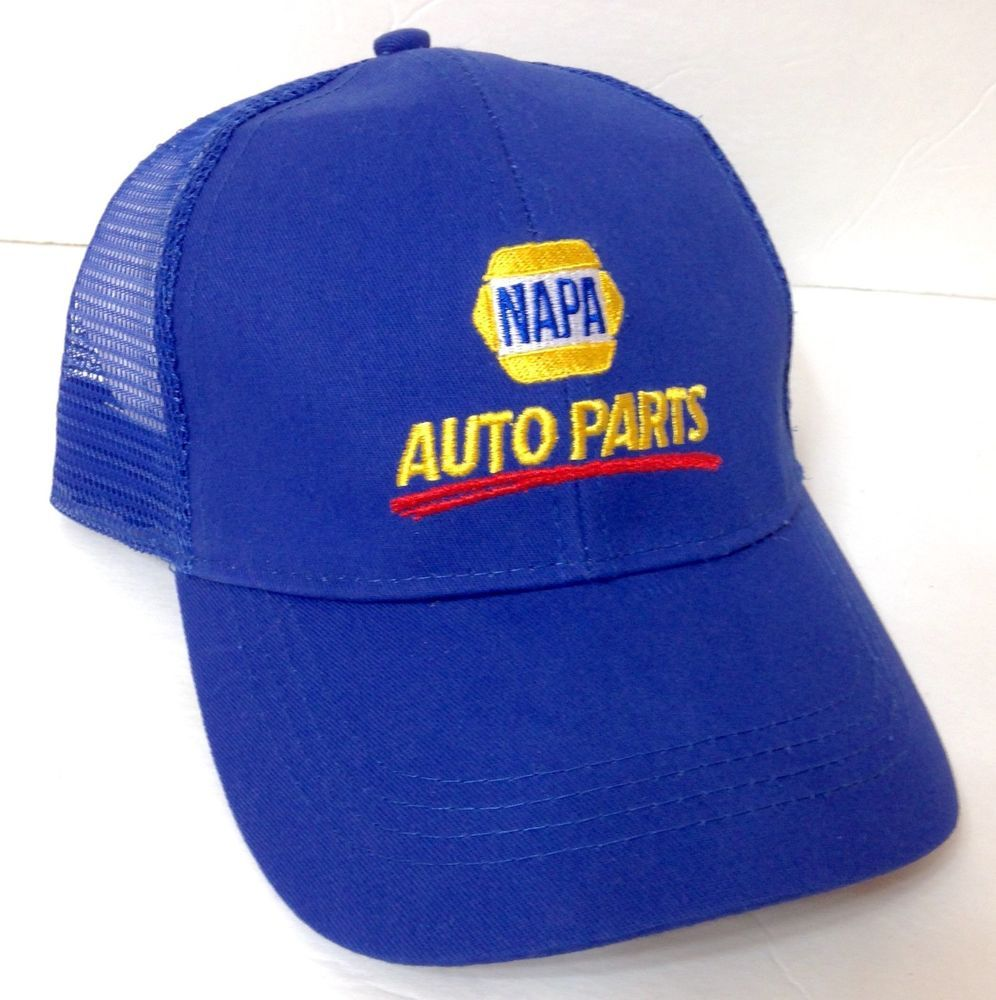 7d80621fe84 unworn NAPA AUTO PARTS HAT Trucker Curved Bill Blue Yellow Car Truck  Men Women  Napa  Trucker