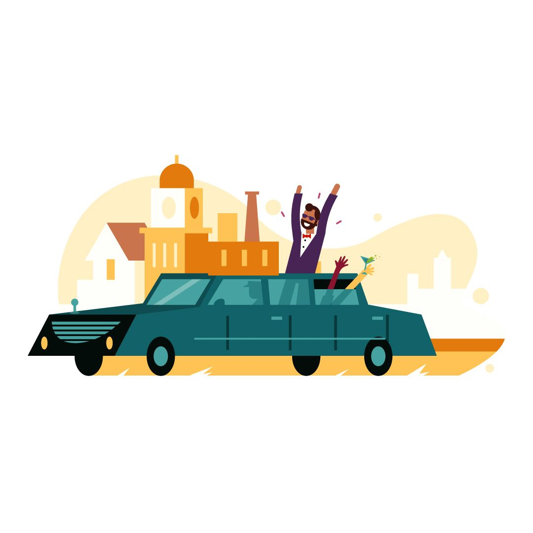 Heres The Last Spot Illustration For Richmond S Visitor S Guide Get Around Town In Style With A Personal Limousine Illustration Spot Magazine Editorial
