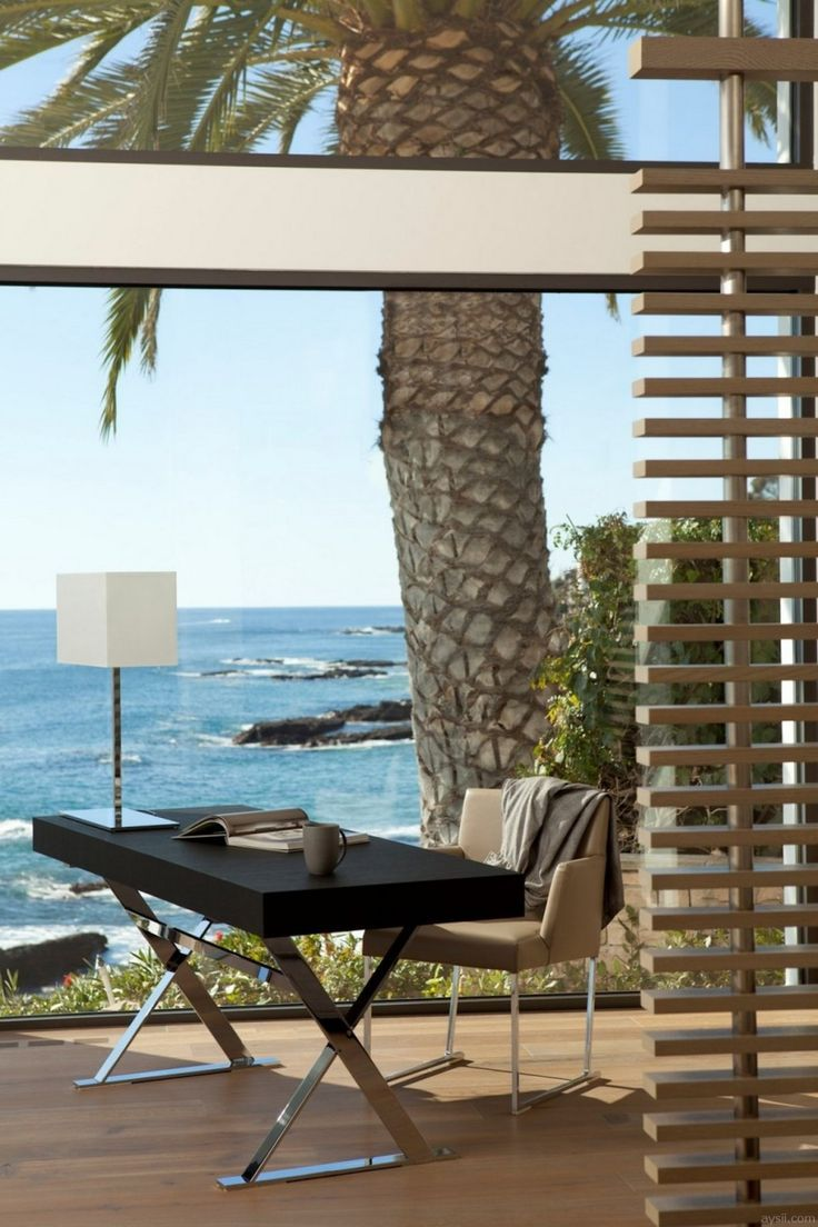cool office gear. Home Office With View | Cool Ocean View. Outdoor Pinterest Gear E
