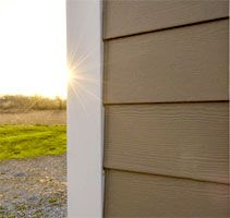 James Hardie Products Hardieplank Lap Siding Craft Shed Fiber Cement Siding House Siding Siding Options