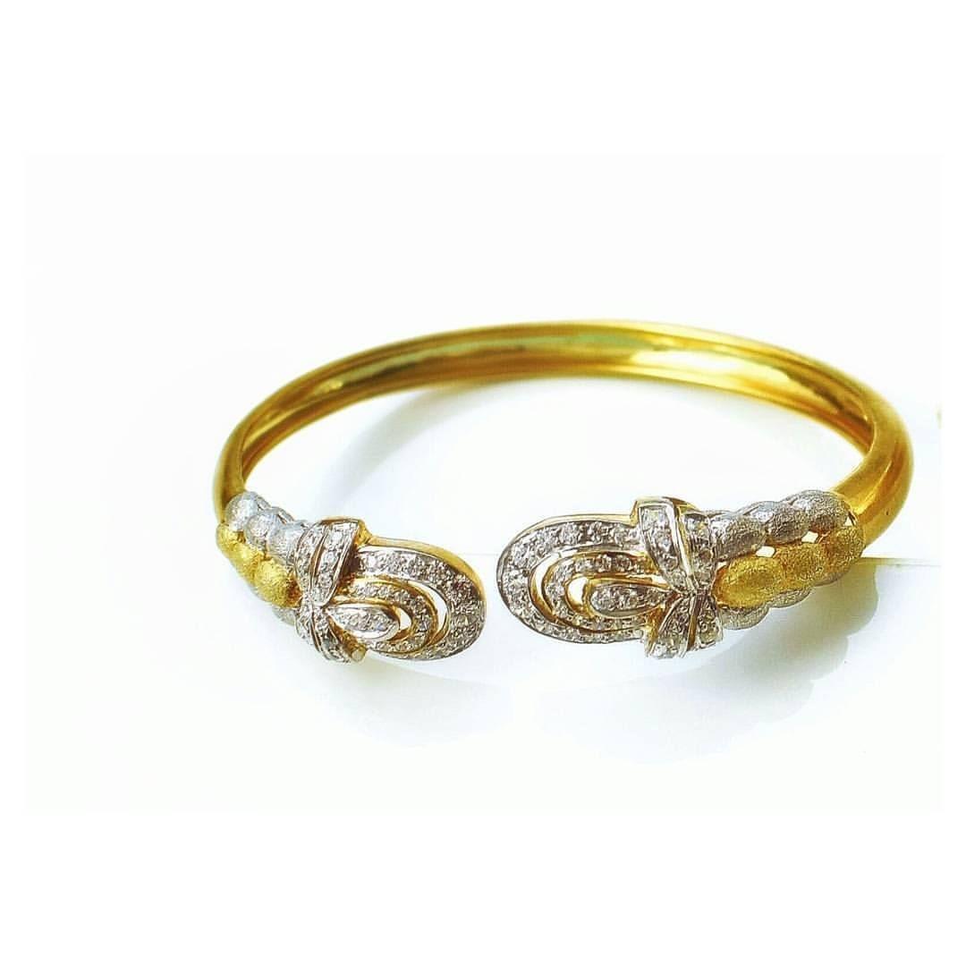 Gold plated silver bracelet designer bracelets indian bangles