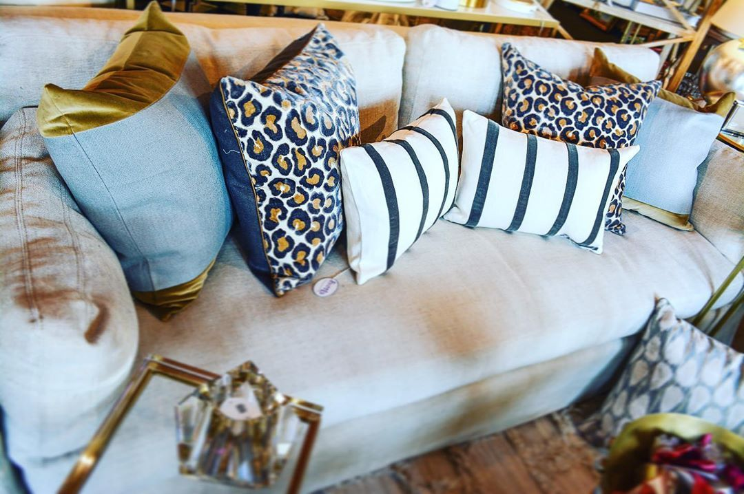 Loving leopard! New pillows in at Fleur de Lis! Stop in and see all our new fall arrivals. ⚜️✨ • • • • •