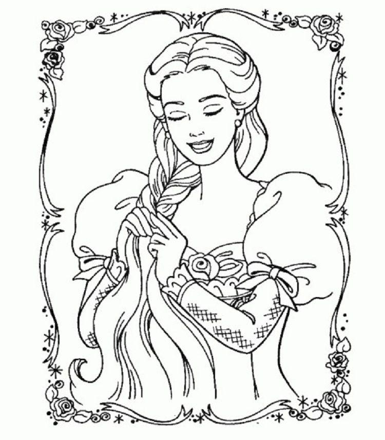 barbie rapunzel coloring pages | Coloring Pages For Kids | Pinterest