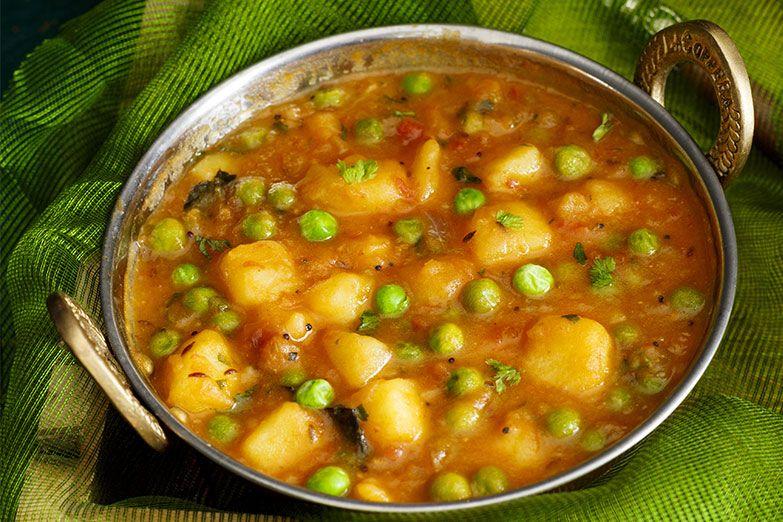 Aloo matar indian food recipes recipes potato and pea
