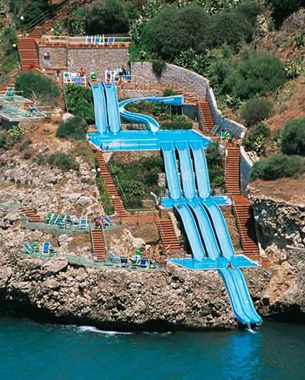 EXTREME WATER SLIDE INTO THE OCEAN | Places I'd Like to Go ...