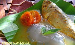Papeda Dan Ikan Kuah Kuning Makanan Resep Kuning